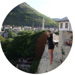 Res till Bosnien - Hopp från Gamla Bron
